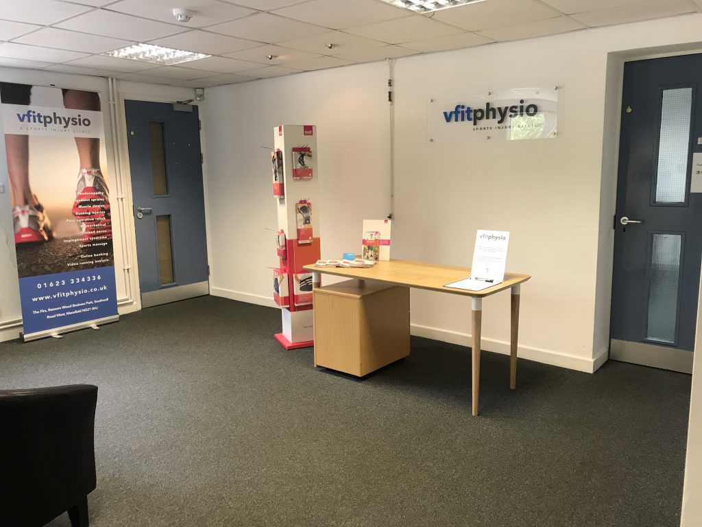 vfit physio Mansfield reception1